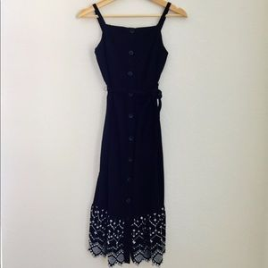 Old Navy Black dress with white stitching XS